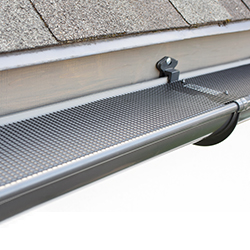 Two piece gutter system installed on a home.