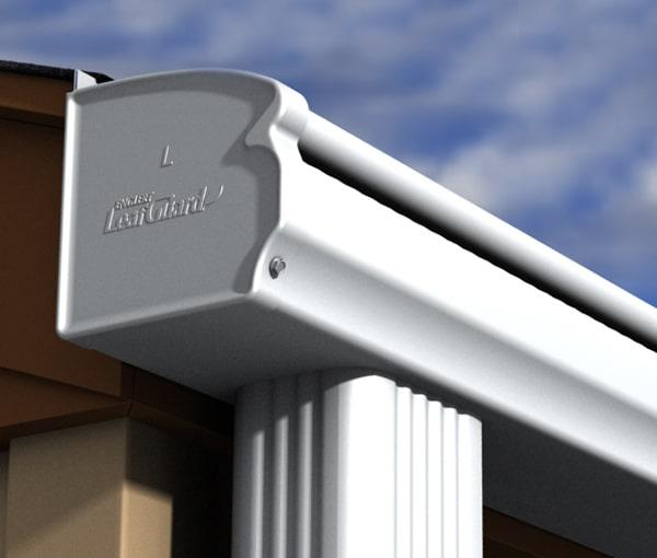 LeafGuard seamless gutters being installed on a home