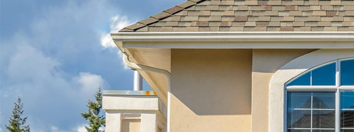 Clean gutters installed on a home