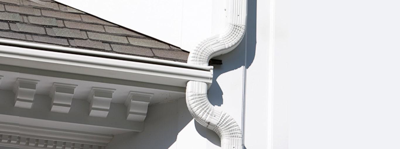 LeafGuard gutters shown on a home